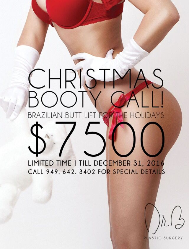 #Christmas Booty #perfect #body by #Dr.BPlasticsurgery Buttock Augmentation Brazilian Butt Lift (buttock augmentation) is a procedure designed to enlarge and improve the shape of the buttocks.  The safest and most common technique takes fat from undesirable areas of the body and artistically transfers it to the buttocks.  Previous techniques used silicone implants which have a very high incidence of infection and have to a great part been used infrequently by most surgeons.  Liposuction of…