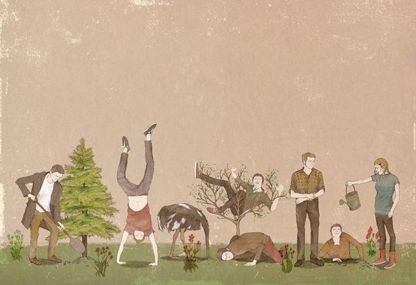 Serie Grupúsculos by Nader Sharaf, via Behance