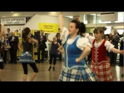▶ Glasgow Airport Highland Dancing Flash Mob by SOHDA celebrating Best of Scotland event - YouTube
