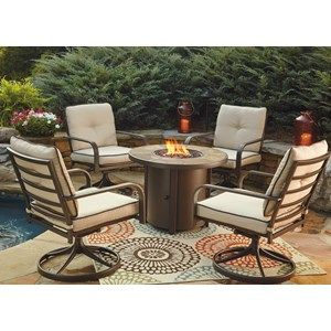 Signature Design by Ashley Predmore 5-Piece Round Fire Pit Table Set