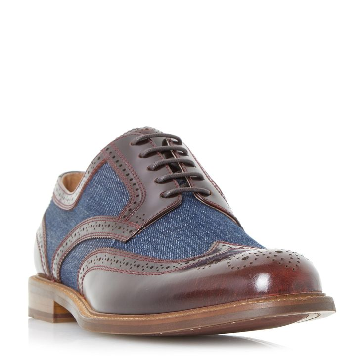 DUNE MENS PILGRIM - Combination Brogue Shoe - bordo | Dune Shoes Online