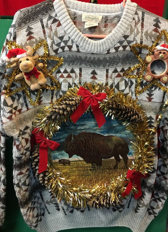 mens ugly Christmas sweater size XL/ XG #141