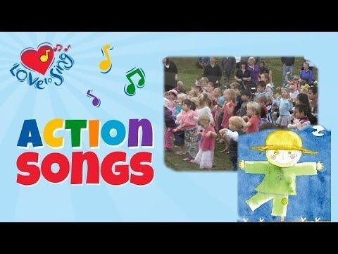 I'm a dingle dangle scarecrow with a flippy floppy hat I can shake my hands like this and shake my feet like that! Kids love to watch, sing and dance along with this fun action song! #lovetosing #actionsongs #kidsmusic