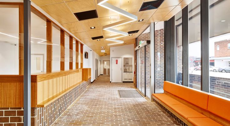 Modern Aboriginal building using Bundjalung Country brick.  Aboriginal Medical Service, Casino NSW.