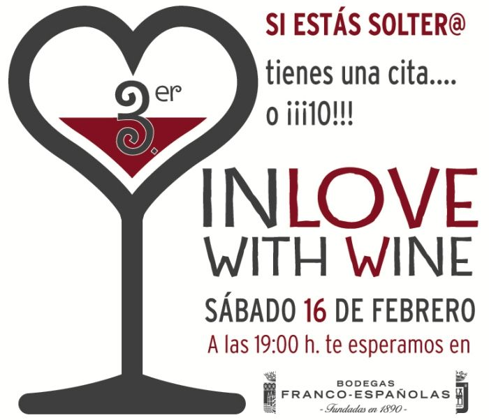 Una bodega organiza 'In Love with Wine', un evento para conocer pareja http://www.vinetur.com/2013021111480/una-bodega-organiza-in-love-with-wine-un-evento-para-conocer-pareja.html