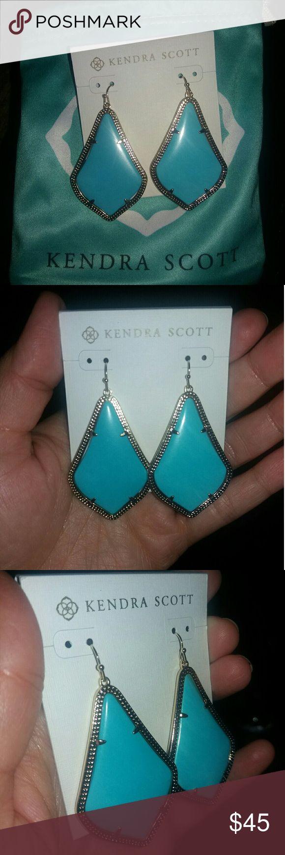 Kendra Scott Earrings Turquoise stone drop earrings Kendra Scott Jewelry Earrings