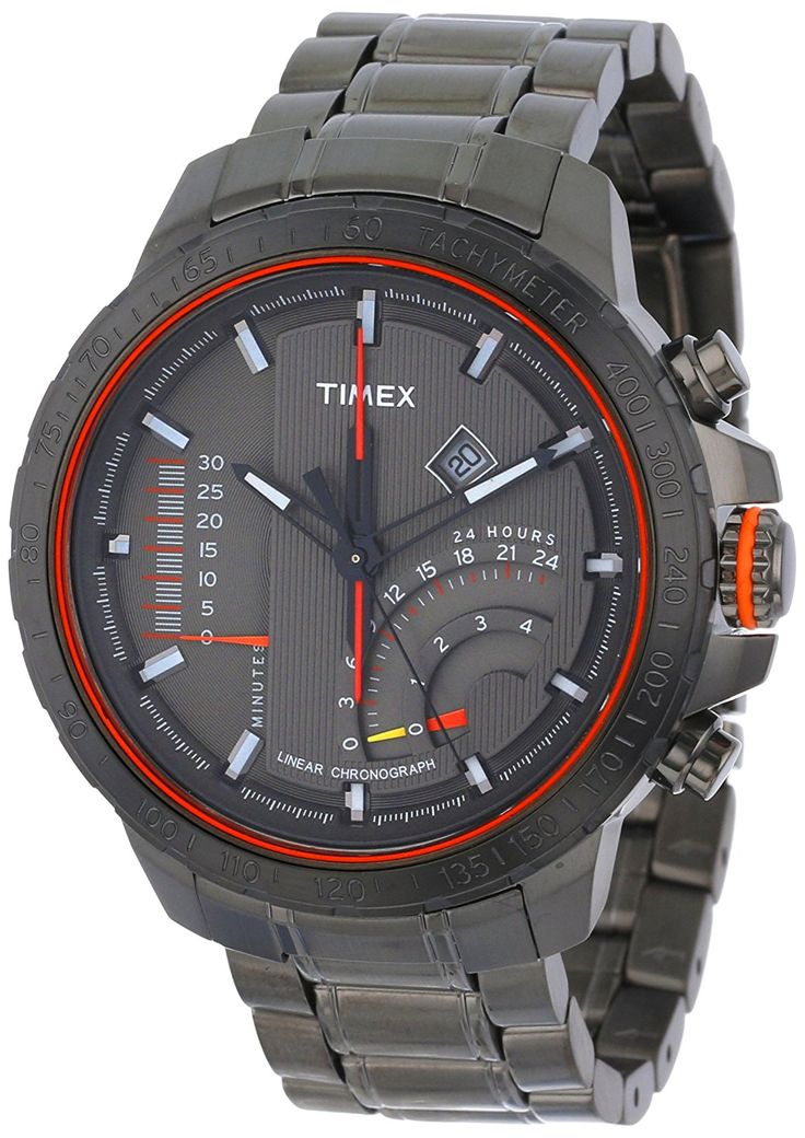 Timex Caballero T2P273DH Intelligent Quartz Adventure Series Linear Indicator cron-grafo Gray Stainless Steel Bracelet Reloj: Timex: Amazon.es: Relojes