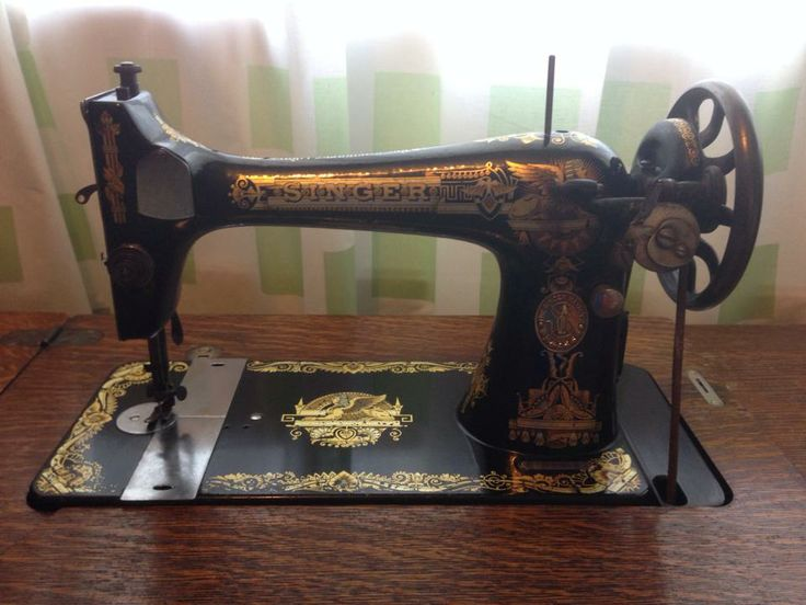 My vintage, almost antique, Singer 27 treadle machine.
