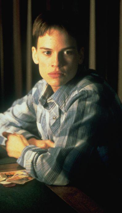Hilary Swank as Brandon Teena in Boys Don't Cry