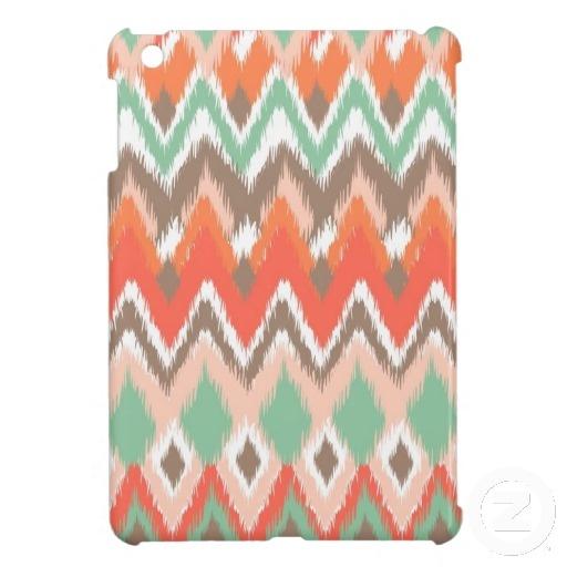 Tribal aztec chevron zig zag stripes ikat pattern iPad mini case from Zazzle.com