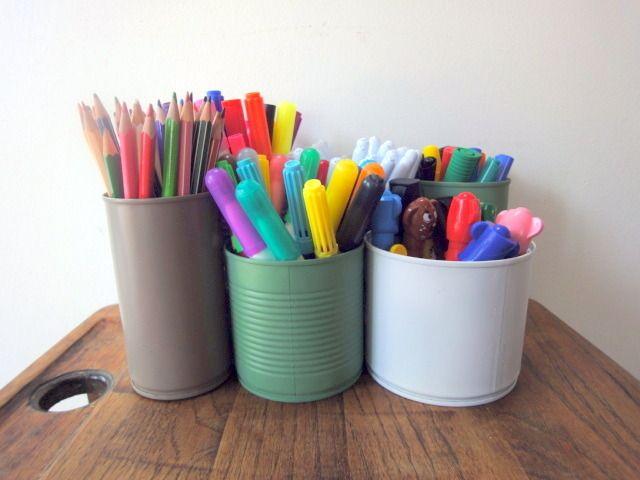 pots à crayons feutres boîtes conserves : Décoration pour enfants par fabrik-a-chris