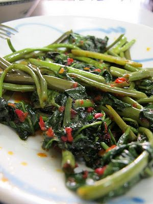 How to cook Kangkung Belacan ~ Singapore Food | Recipes
