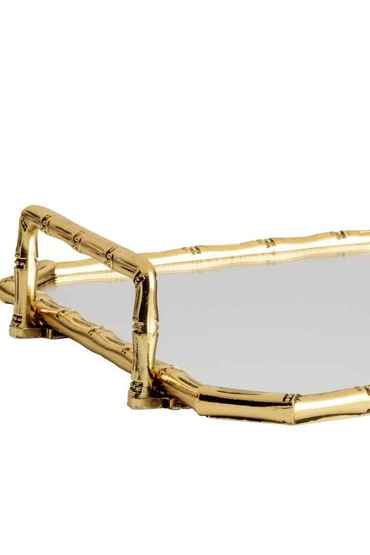 Поднос с зеркальным дном - Золотистый - HOME   H&M RU