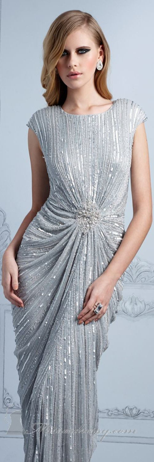 Beaded Evening Gown by Terani Couture Evening