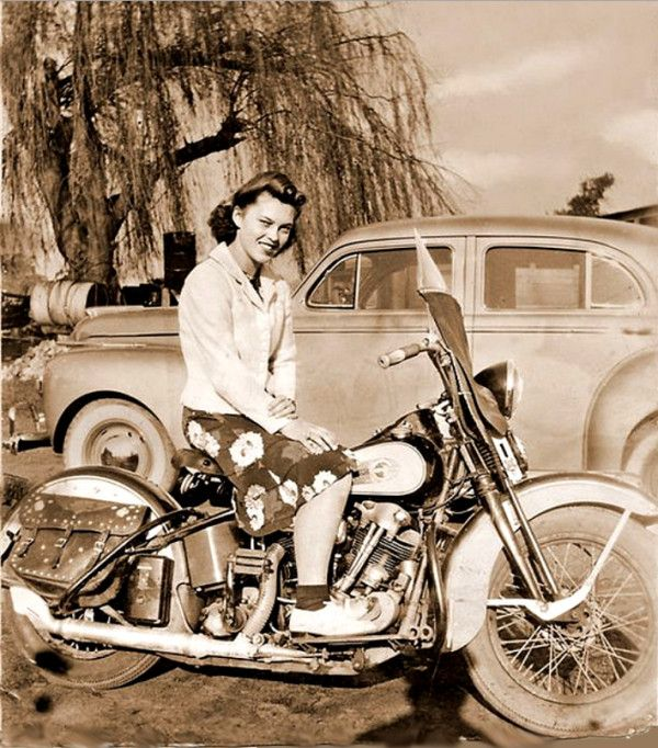 Indian motorcycle - vintage shot from the 1950s