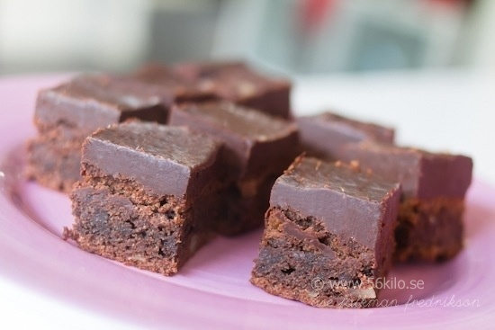 Brownies with choclateglaze (swe)