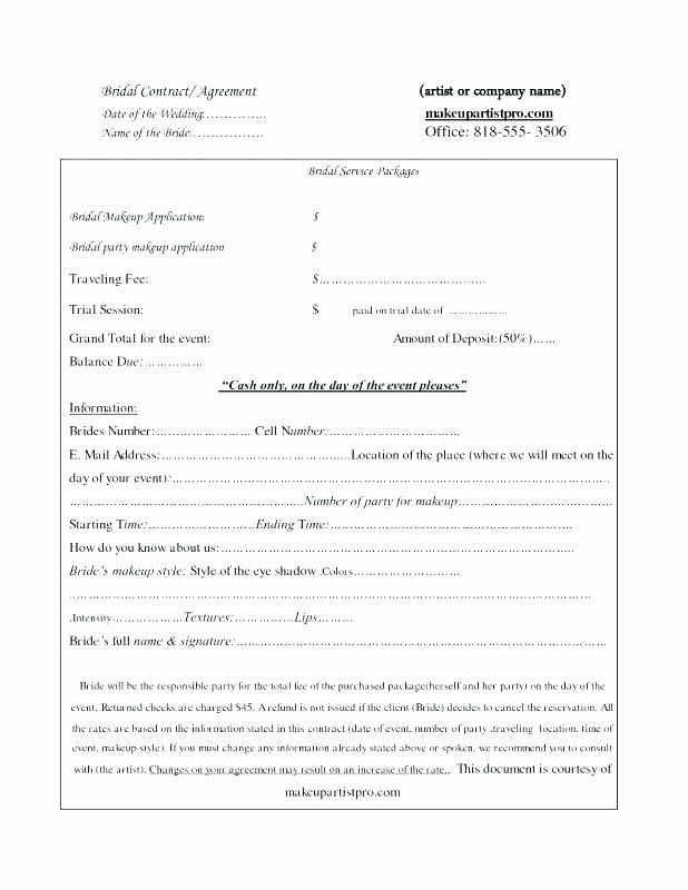 Freelance Makeup Artist Contract Template In 2020 Freelance