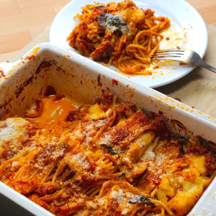 Chicken Arrabbiata Spaghetti Bake - Twisted
