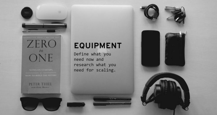 You Need Equipment