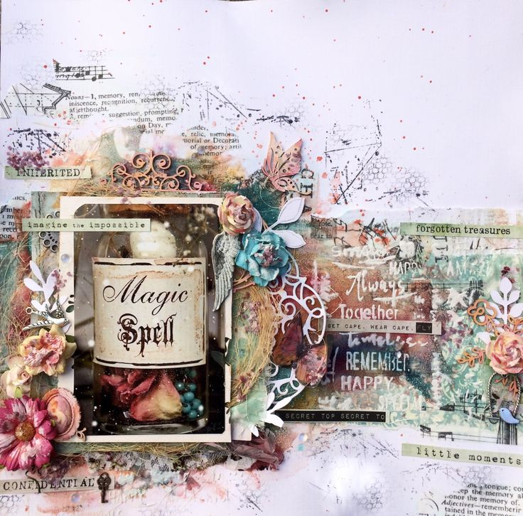 mixed media layout video tutorial by Bea Mucsi