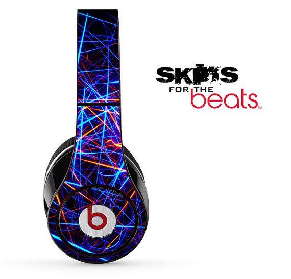 Neon Strobe Light Skin for the Beats by Dre Studio, Solo, MIXR, Pro or Wireless Version Headphones