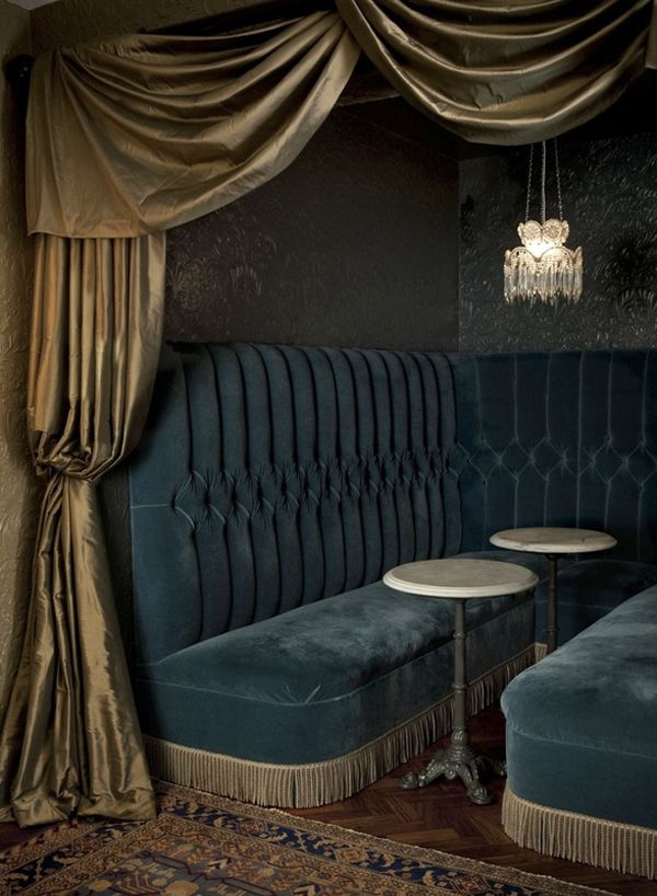 luxurious banquette and curtain