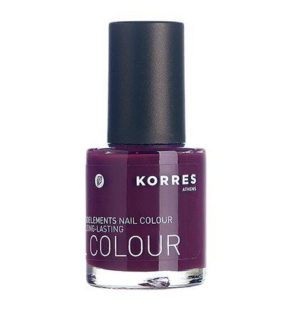 Korres Purple nail polish