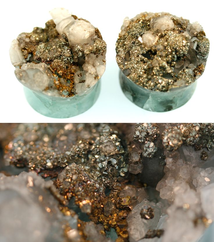flourite with rainbow pyrite and calcite from onetribe.nu