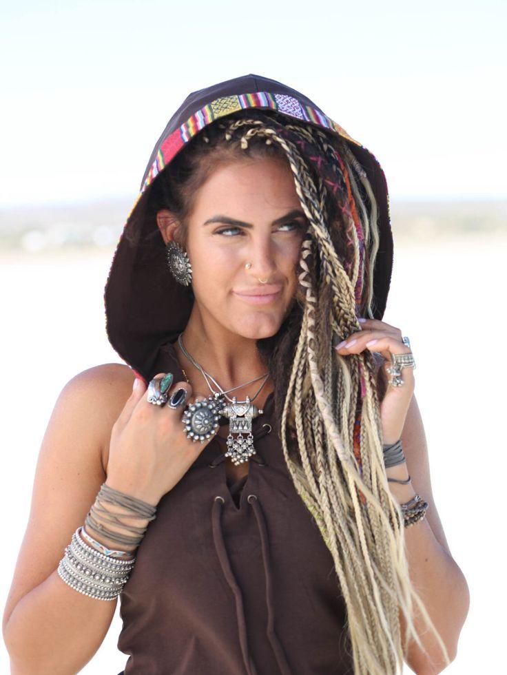 Robe à capuche Tribal Zzyzx, Brown, Festival robe, robe à capuche, Festival vêtements, cerceau, robe Tribal, Burning Man, péruvien, chaman par BlondeVagabond sur Etsy https://www.etsy.com/ca-fr/listing/448889312/robe-a-capuche-tribal-zzyzx-brown
