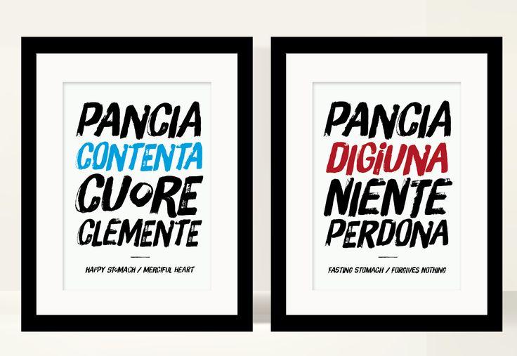 Kitchen poster, italian quote #art #print #poster #typography #typographyc #quote #italy #italian