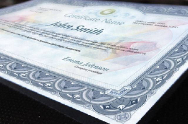 A psd certificate template print   ready at 300 DPI. Ideal to present any type of property title, diploma ...