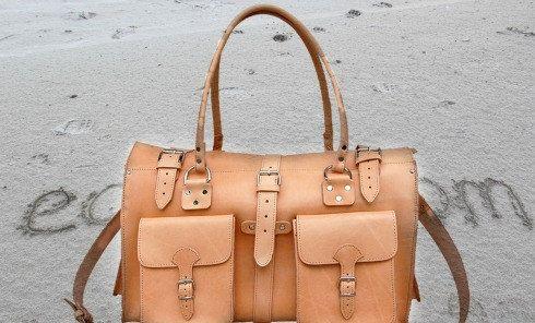 Weekender leather backpack leather duffle bag  by EATHINI on Etsy
