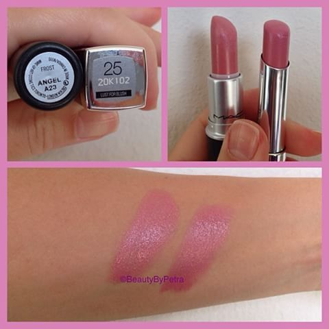 If you like Mac Angel lipstick you will love this. Mac Lipstick in Angel for $19 VS Maybelline Color Whisper in Lust For Blush for $6. You cannot tell the difference. Maybe Maybelline is a little bit more shinier. Angel lipstick is not long lasting so at this point doesn't matter. #maclipstick #macangel #angellipstick #maybelline #colorwhisper #lustforblush #makeupdupe #lipstickdupe #pinklips #pinklipstick #cheaplipstick @maybelline @jaclynhill I know you love Angel 😉