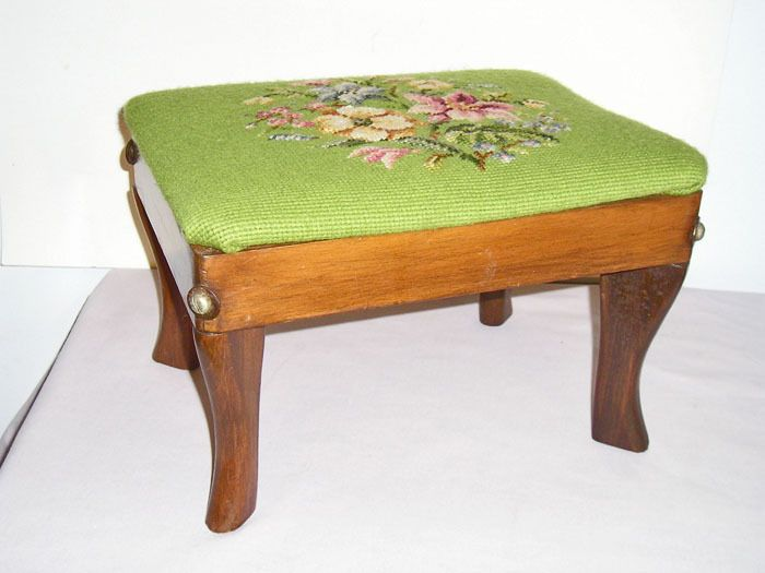 15 Best Images About Needlepoint Footstools On Pinterest