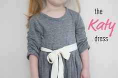 A cute knit dress and very helpful info on how to make your own sleeve pattern from an existing shirt.