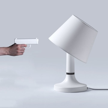 I need one of these!!Design Inspiration, Remote Lamps, Guns, Stuff, Lights Switched, Fab Com, Bangs, Products, Man Caves