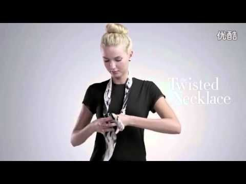 This is one of the best videos I've found: How To Tie a Scarf--4 Scarves 16 Ways