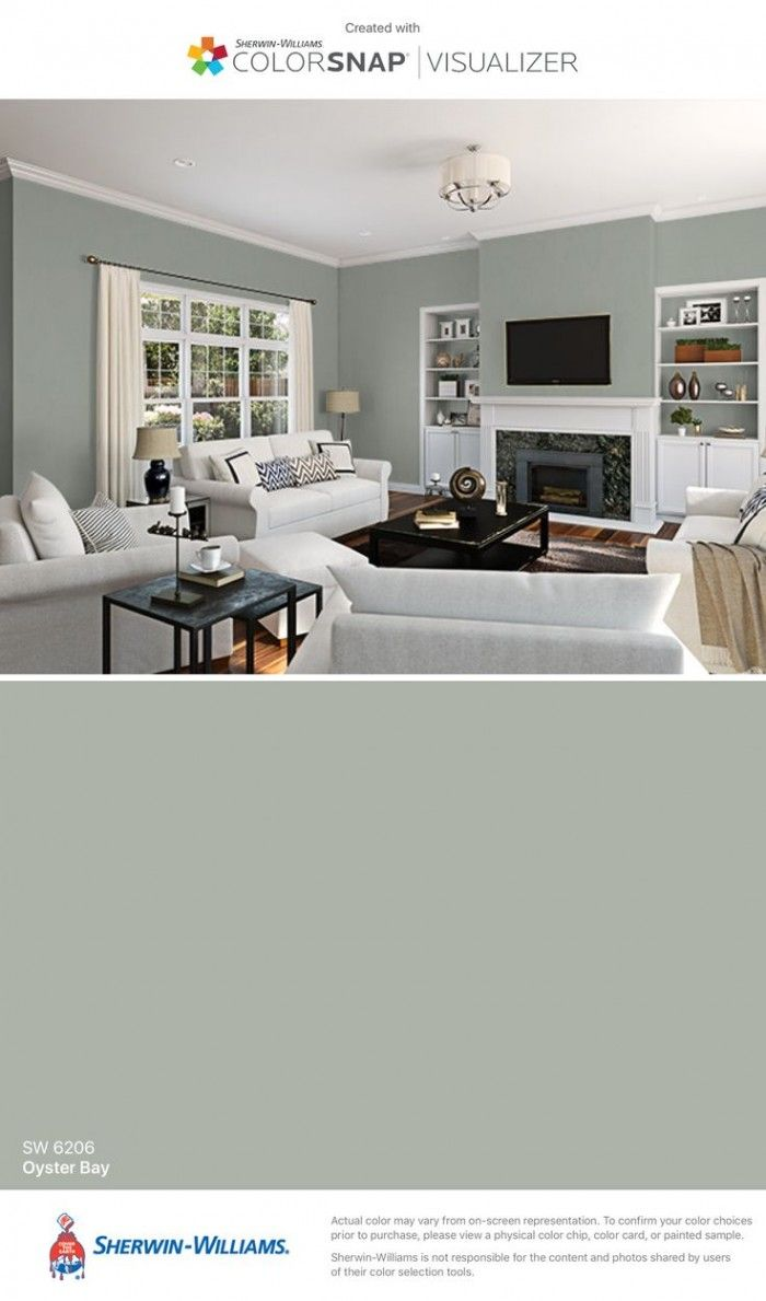 Astonishing Gray Wall Livingroom Decorating And Charming Sherwin Williams Oyster Bay With Elegant White Paint Colors For Home Room Paint Colors Paint Color App Room color ideas app