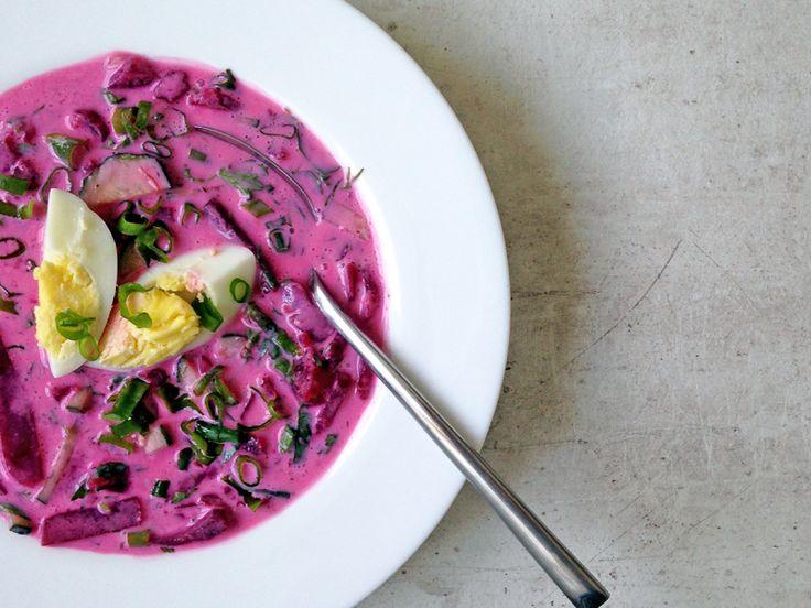 Cold beetroot soup / Холодник на кефире