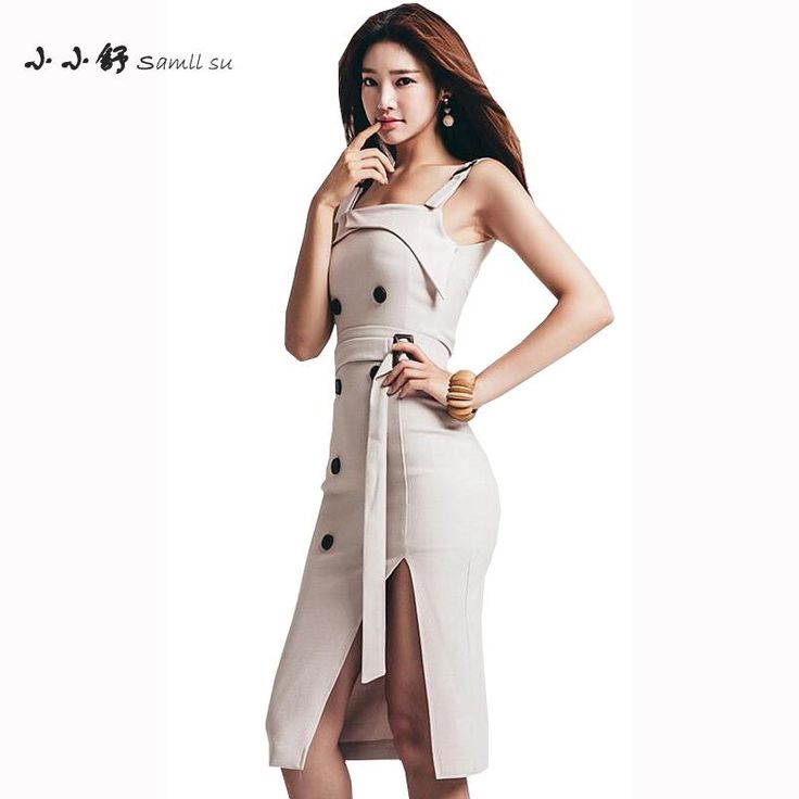 35.53$  Watch here - Small Su 2017 Summer Women Khaki Sleeveless Long Dresses Sexy Bandage Party Spaghetti Strapless Sundress Vestido De Fest Mujer   #aliexpress