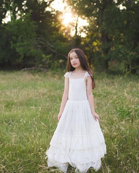 ae2c0e8cb970 Versaille Lace Ruffle Dress in 2019   Boho Wedding Inspiration ...