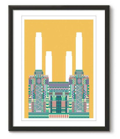 Multicolour Battersea Power Station - Yellow - Great Little Place Store - 1