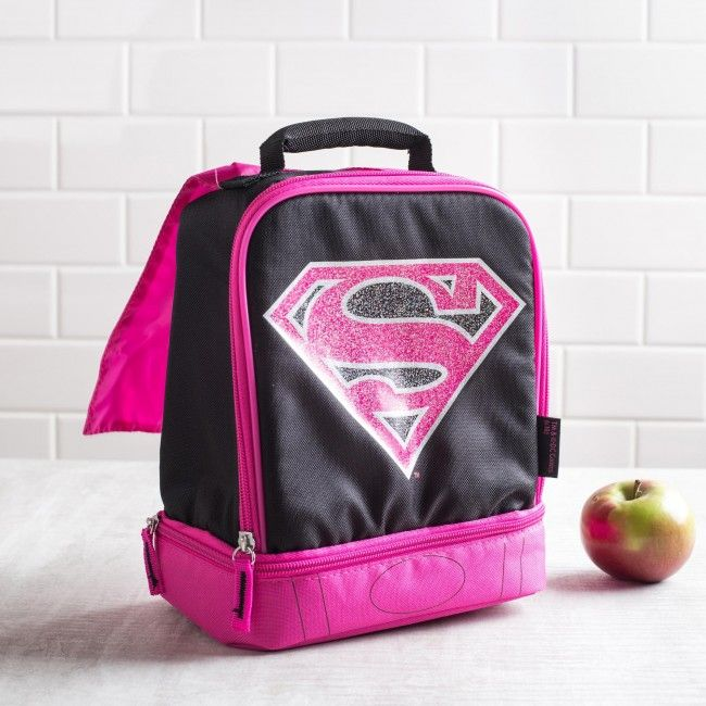 Your super girl will love this Supergirl lunch bag! A kid's kryptonite is not eating lunch!