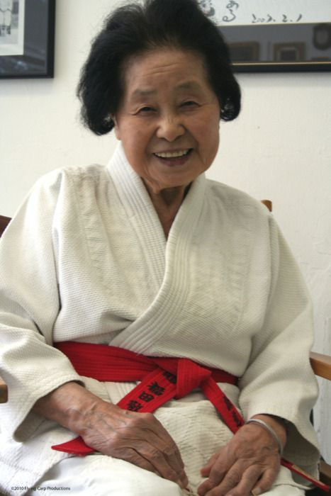 At 98 years of age, Sensei Keiko Fukuda (the last surviving student of Judo founder Kanō Jigorō) was officially promoted to the rank of 10th dan -the highest black-belt degree in her sport.  She is the first woman to reach the rank & sixteenth person to achieve it since founded in 1882.