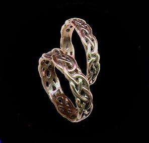celtic wedding rings its a throwback to my heritage - Gothic Wedding Rings