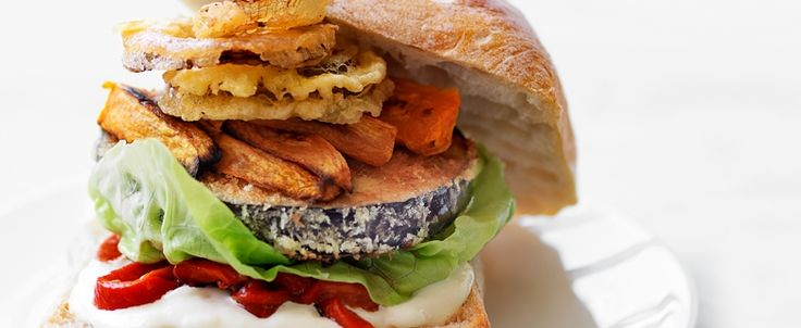 Eggplant burger recipe, brought to you by MiNDFOOD.
