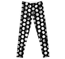 Polka Dots Distressed black and white pattern leggings