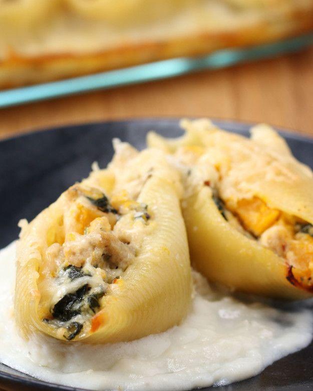 Butternut Squash Stuffed Pasta Bake | This Butternut Squash Pasta Bake Is So Perfect For Fall Dinner