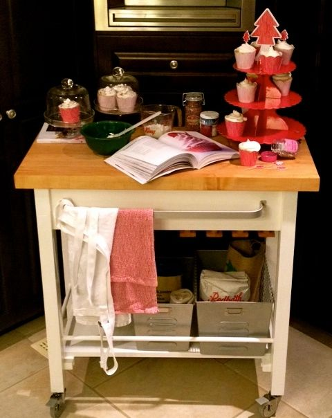 This is a kitchen cart I 'saved' and 'rehomed'