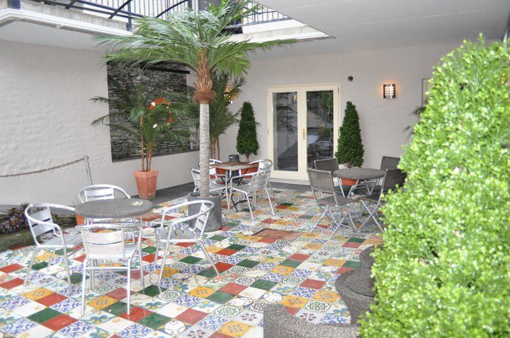Our beautiful Moroccan Encaustic Cement Tiles at QC's Townhouse, Caherciveen, Co. Kerry available at http://best-tile.co.uk/moroccan-handmade-encaustic-cement-tiles/moroccan-encaustic-cement-pattern-tile.html?limit=75